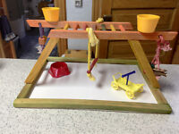 Bird Play centre - for small parrots (conures, quaker or larger)