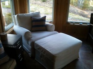 Ikea Chair and Lift Top Ottoman