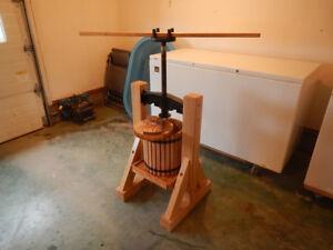 Solid Oak Cider Press