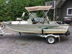 14ft Gruman fishing boat and trailer