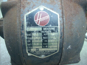 HOOVER BALL BEARING ELECTRIC MOTOR FOR SALE West Island Greater Montréal image 2