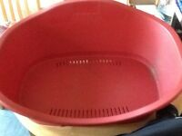 BRICK RED DOG BASKET, MEDIUM SIZE