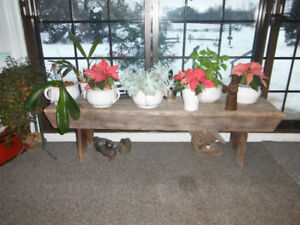 RUSTIC BENCHES/ COFFEE TABLE.