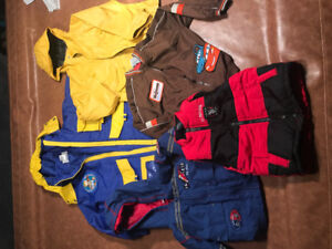 Various Seasons of hats, jackets, shoes for toddler boys. MINT!