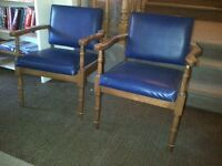 Solid retro chairs