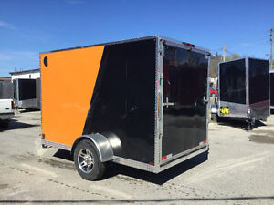 6' x1 0' V-Nose Cargo Trailer • 3 Year Warranty • Made in Canada Kitchener / Waterloo Kitchener Area image 4