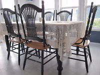 Solid Pine Kitchen Table & Chairs For Sale