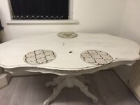 Shabby chic dining table.