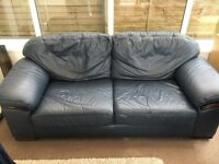 High Quality Leather Sofa and matching Armchair