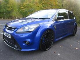 09/09 FORD FOCUS 2.5 RS 3DR HATCH IN PERFORMANCE BLUE WITH LUX PACK 2