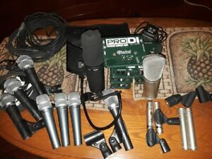Studio equipment for SALE.  Presonus  Boards, DAS monitors, Mics