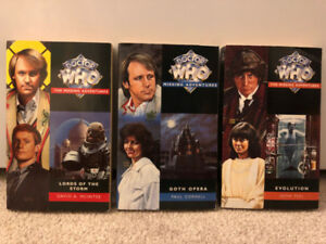 Dr. Who The Missing Adventures - 3 Books - Fine Cond