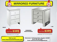 MIRRORED FURNITURE CHEAPEST PRICES IN TORONTO HUGE SELECTION NEW