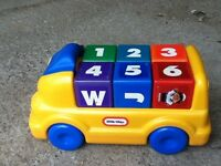 Sit/Push Car with Blocks