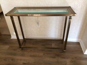 Antique Brass Tables (2x)