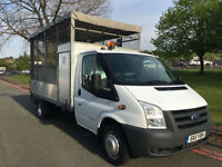 Ford Transit 350T 2.4TDCi 115 bhp LWB Caged Dropside Tail lift With Toolbox