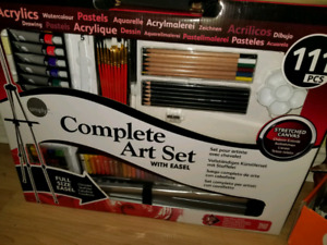 111 piece art set with easel