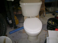 Almond colored toilet