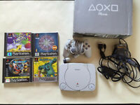 Ps one boxed & 4 games