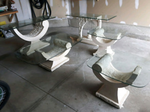 Set of 5  galss tables