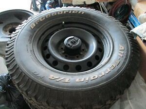 Set of BF Goodrich A/T KO tires and rims!  LT265 70R 17