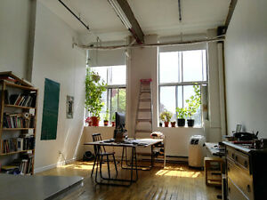 LOFT style appartment, old factory building 1000sq.ft. St-Henri