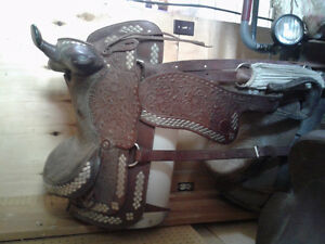 Western parade saddle