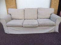 Gray IKEA EKTORP sofa free London delivery