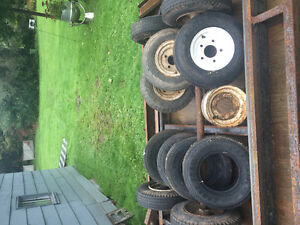 Trailer axles, tires and rims