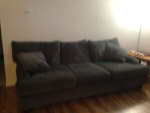 Brand new blue-grey couch and love seat