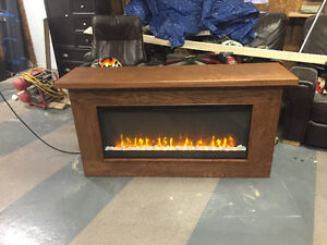 Custom electric fire place with remote