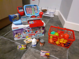 Supermarket till and accessories
