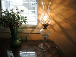 Beautiful Waterford Vintage Crystal Lamps + Bohemia Crystal Vase Windsor Region Ontario image 1