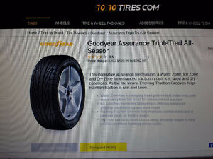 215/60/15 Good Year Triple Tred all-seson tires