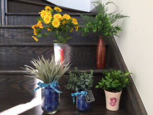 Artificial green plants with Pots $5 each