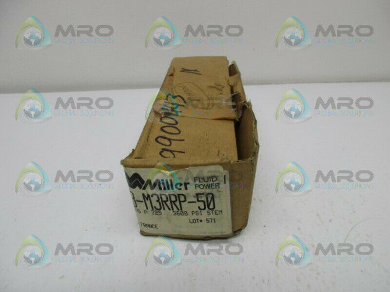 MILLER 583-M3RRP-50 FLUID POWER HYDRAULIC FLOW CONTROL * NEW IN BOX *