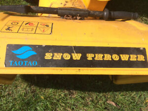 For Sale:Two stage Gas Snow Blower(used) Excellent condition
