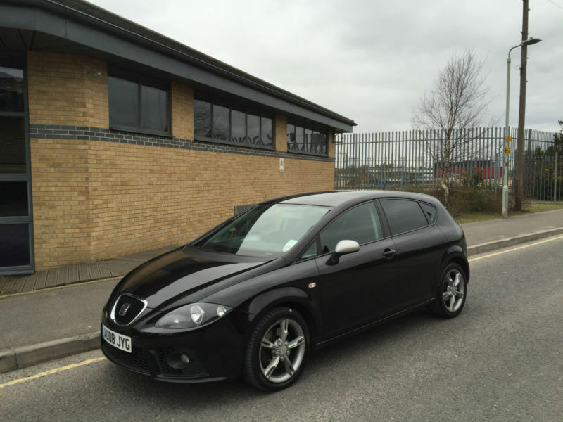 2008 seat leon 2 0tdi fr 5 door hatchback black in poole dorset gumtree. Black Bedroom Furniture Sets. Home Design Ideas