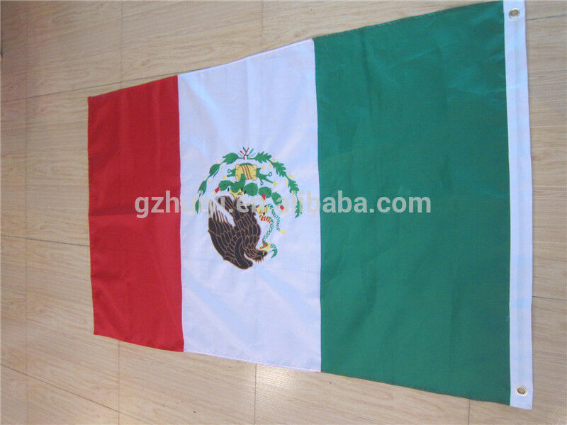 RARE MEXICO FLAG *MADE IN USA* Defiance  4X6' ANNIN FLAG Mus