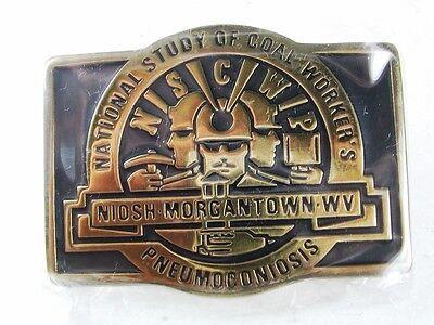 National Study Of Coal Workers Morgantown Wv Belt Buckle By Anacortes