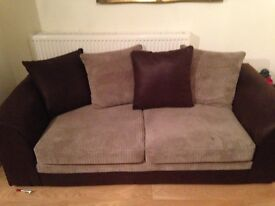 Three and two seater fabric sofa's for sale in great condition. £250.00 ono