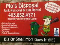 "Junk garbage pick up Junk removal  MO""S DISPOSAL INC 4038524771"