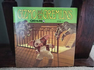 """MINT Gremlins Read Along Record Book 33-1/3 LP 7"""" Vinyl"""