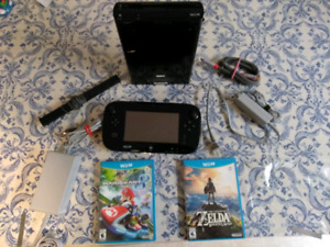 Nintendo Wii U with games