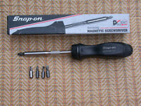 Snap-on magnetic ratcheting screwdriver