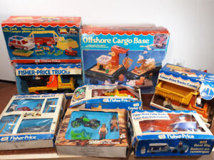 1970s Fisher Price sets with Boxes
