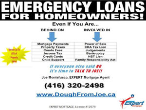 EMERGENCY LOANS FOR HOMEOWNERS!!!