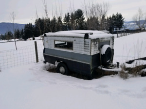 1960's Mercury 8' Truck box utility trailer and canopy