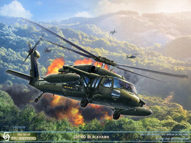 ART PRINT:  UH-60 Blackhawk -  by Shepherd