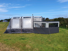 Vango Galli3 RSV low driveaway awning with Carpet and Footprint